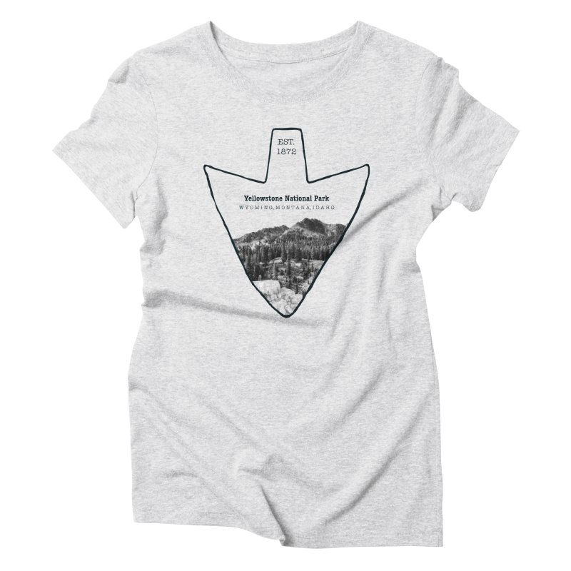 Yellowstone National Park Arrowhead Women's Triblend T-Shirt by Of The Wild by Kimberly J Tilley