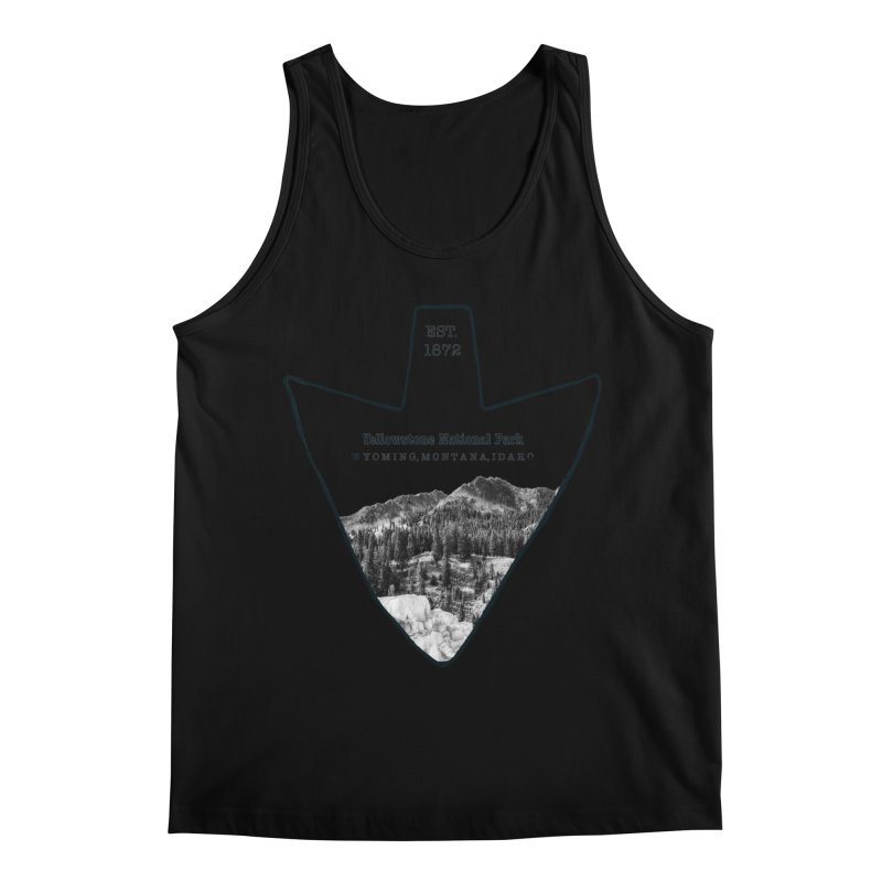 Yellowstone National Park Arrowhead Men's Regular Tank by Of The Wild by Kimberly J Tilley