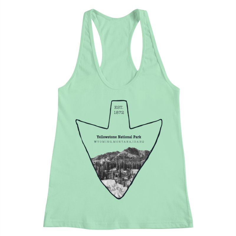 Yellowstone National Park Arrowhead Women's Racerback Tank by Of The Wild by Kimberly J Tilley