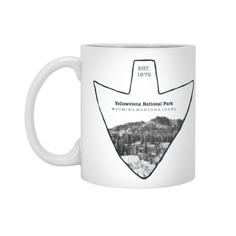 Yellowstone National Park Arrowhead Accessories Standard Mug by Of The Wild by Kimberly J Tilley