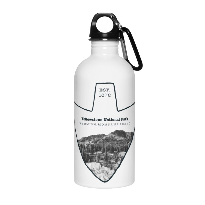 Yellowstone National Park Arrowhead Accessories Water Bottle by Of The Wild by Kimberly J Tilley