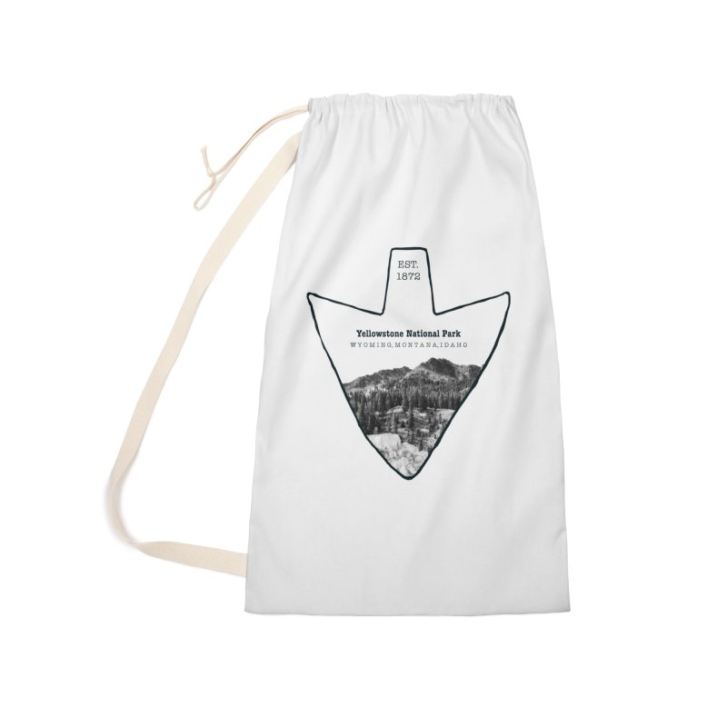 Yellowstone National Park Arrowhead Accessories Laundry Bag Bag by Of The Wild by Kimberly J Tilley
