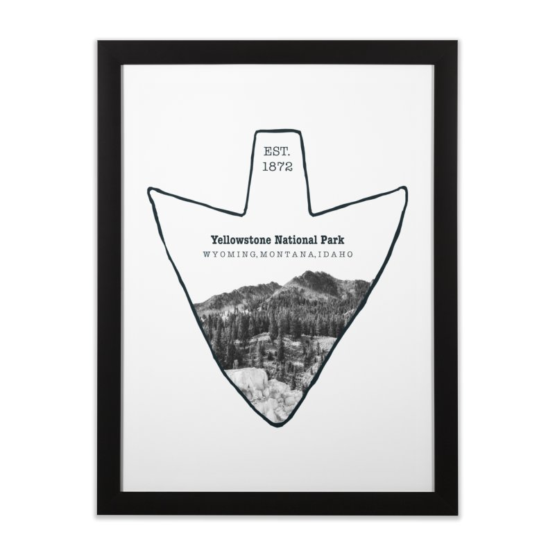 Yellowstone National Park Arrowhead Home Framed Fine Art Print by Of The Wild by Kimberly J Tilley
