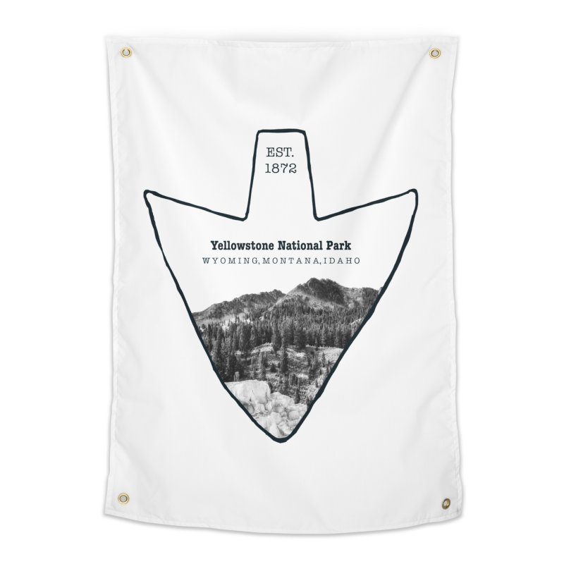 Yellowstone National Park Arrowhead Home Tapestry by Of The Wild by Kimberly J Tilley