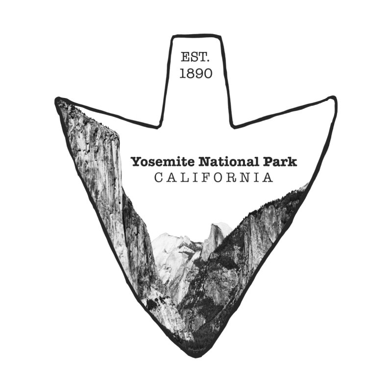 Yosemite National Park Arrowhead Men's T-Shirt by Of The Wild by Kimberly J Tilley