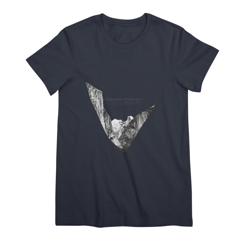 Yosemite National Park Arrowhead Women's Premium T-Shirt by Of The Wild by Kimberly J Tilley