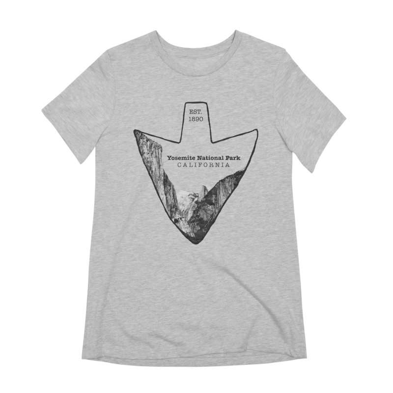 Yosemite National Park Arrowhead Women's Extra Soft T-Shirt by Of The Wild by Kimberly J Tilley