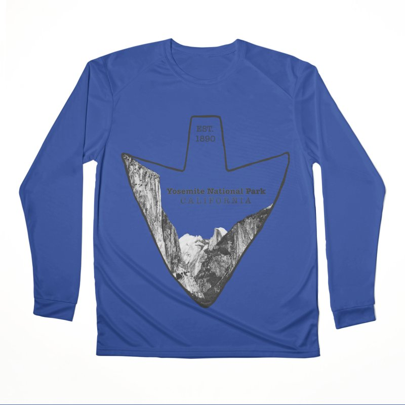 Yosemite National Park Arrowhead Men's Performance Longsleeve T-Shirt by Of The Wild by Kimberly J Tilley