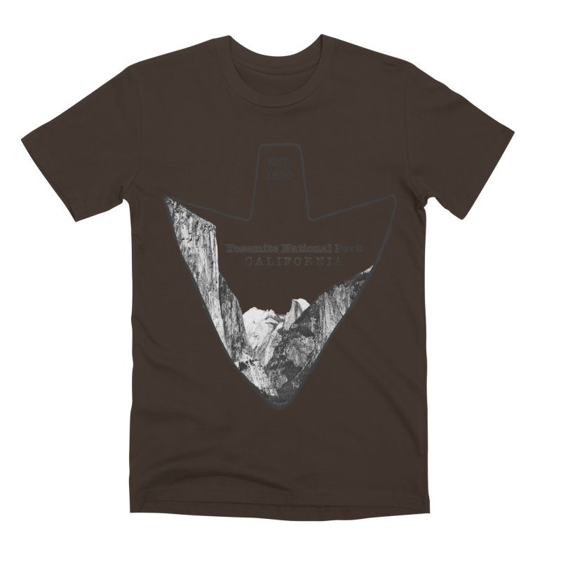 Yosemite National Park Arrowhead Men's Premium T-Shirt by Of The Wild by Kimberly J Tilley