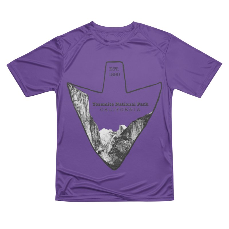 Yosemite National Park Arrowhead Men's Performance T-Shirt by Of The Wild by Kimberly J Tilley
