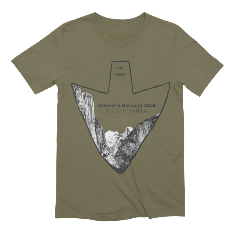 Yosemite National Park Arrowhead Men's Extra Soft T-Shirt by Of The Wild by Kimberly J Tilley
