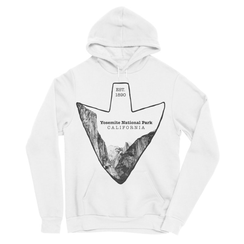 Yosemite National Park Arrowhead Men's Sponge Fleece Pullover Hoody by Of The Wild by Kimberly J Tilley