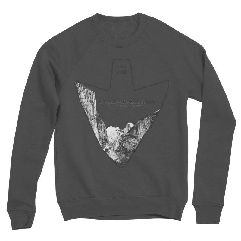 Yosemite National Park Arrowhead Men's Sponge Fleece Sweatshirt by Of The Wild by Kimberly J Tilley