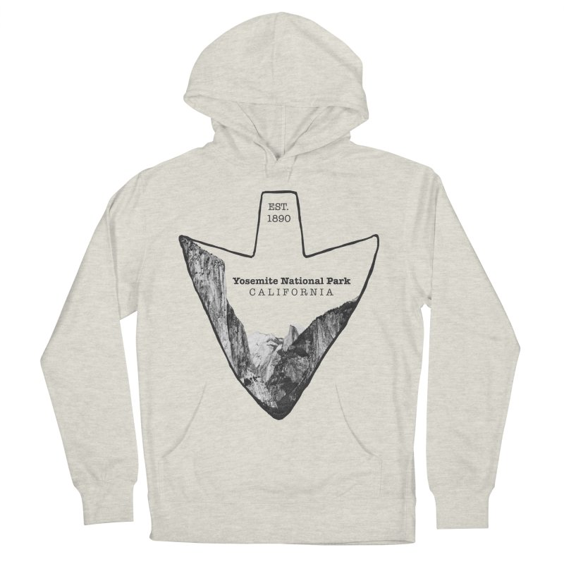 Yosemite National Park Arrowhead Men's French Terry Pullover Hoody by Of The Wild by Kimberly J Tilley