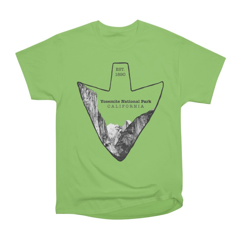 Yosemite National Park Arrowhead Men's Heavyweight T-Shirt by Of The Wild by Kimberly J Tilley