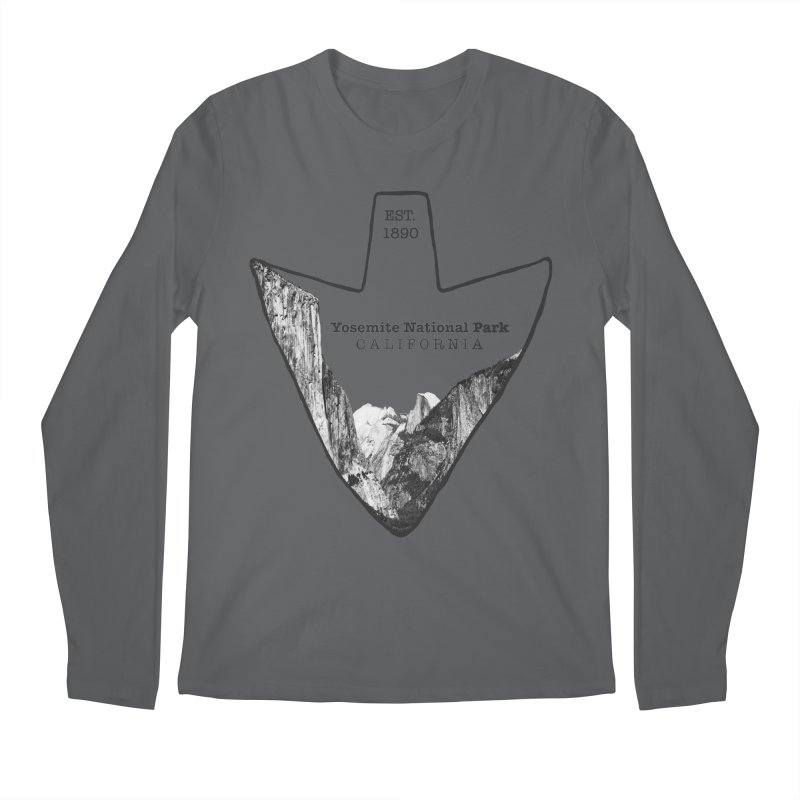 Yosemite National Park Arrowhead Men's Regular Longsleeve T-Shirt by Of The Wild by Kimberly J Tilley