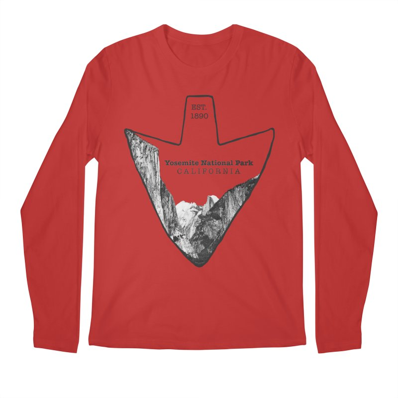 Yosemite National Park Arrowhead Men's Longsleeve T-Shirt by Of The Wild by Kimberly J Tilley