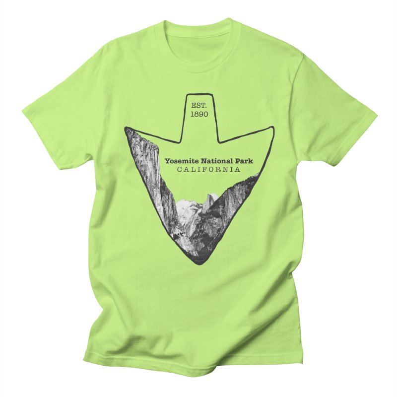 Yosemite National Park Arrowhead Men's Regular T-Shirt by Of The Wild by Kimberly J Tilley