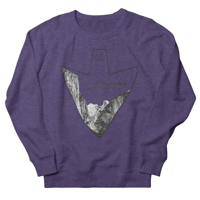 Yosemite National Park Arrowhead Men's French Terry Sweatshirt by Of The Wild by Kimberly J Tilley