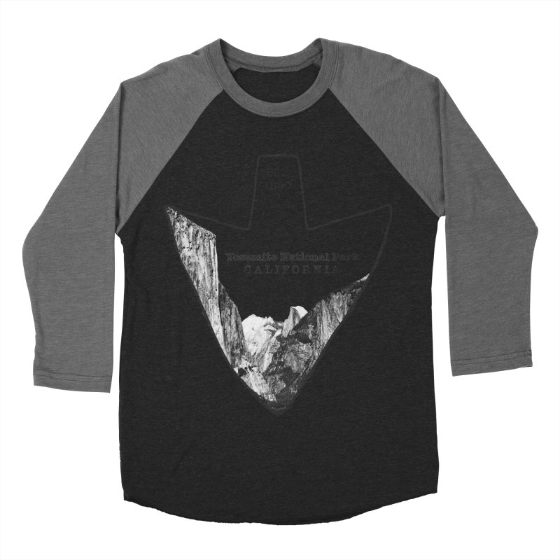 Yosemite National Park Arrowhead Women's Baseball Triblend Longsleeve T-Shirt by Of The Wild by Kimberly J Tilley