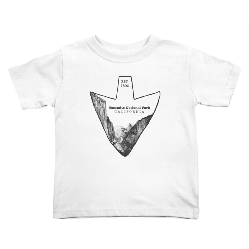Yosemite National Park Arrowhead Kids Toddler T-Shirt by Of The Wild by Kimberly J Tilley