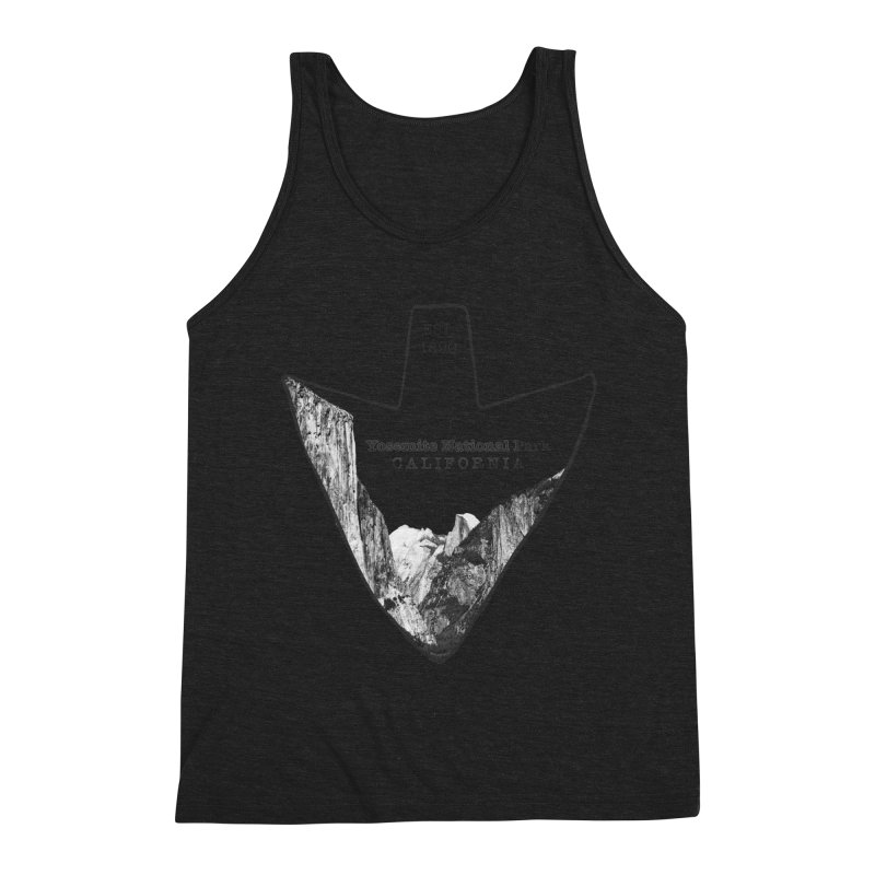 Yosemite National Park Arrowhead Men's Triblend Tank by Of The Wild by Kimberly J Tilley