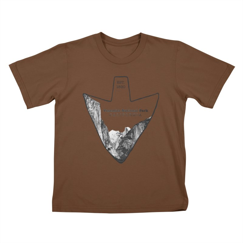 Yosemite National Park Arrowhead Kids T-Shirt by Of The Wild by Kimberly J Tilley