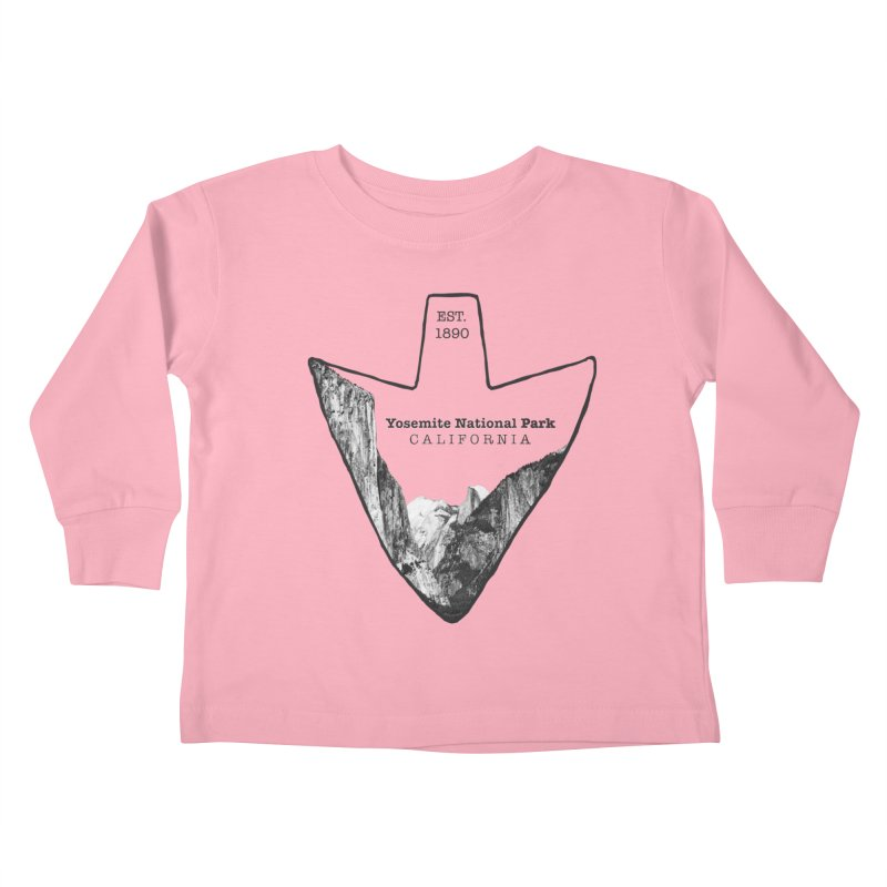 Yosemite National Park Arrowhead Kids Toddler Longsleeve T-Shirt by Of The Wild by Kimberly J Tilley