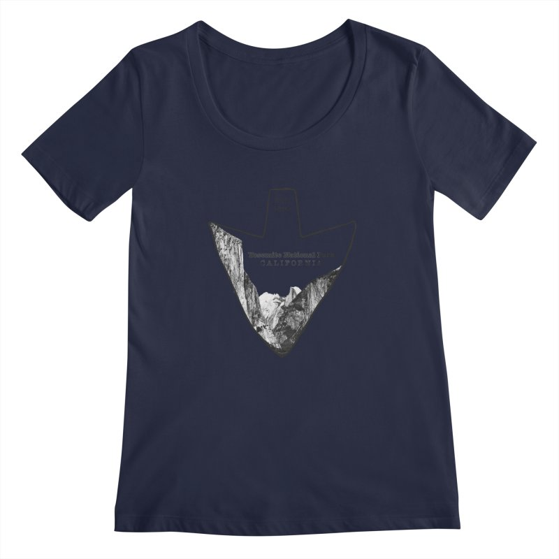 Yosemite National Park Arrowhead Women's Regular Scoop Neck by Of The Wild by Kimberly J Tilley
