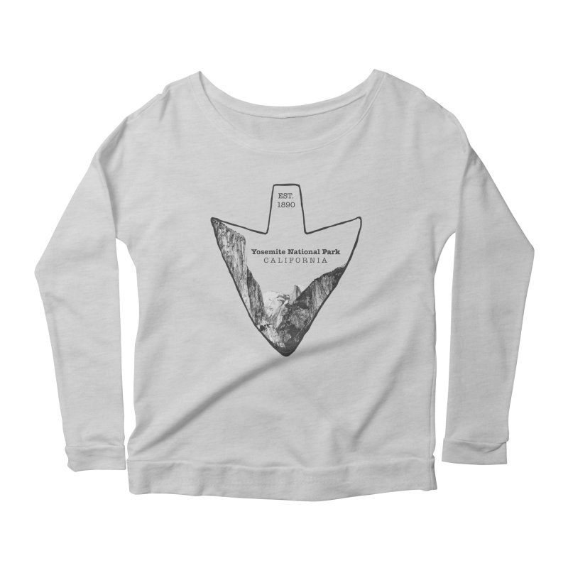 Yosemite National Park Arrowhead Women's Scoop Neck Longsleeve T-Shirt by Of The Wild by Kimberly J Tilley