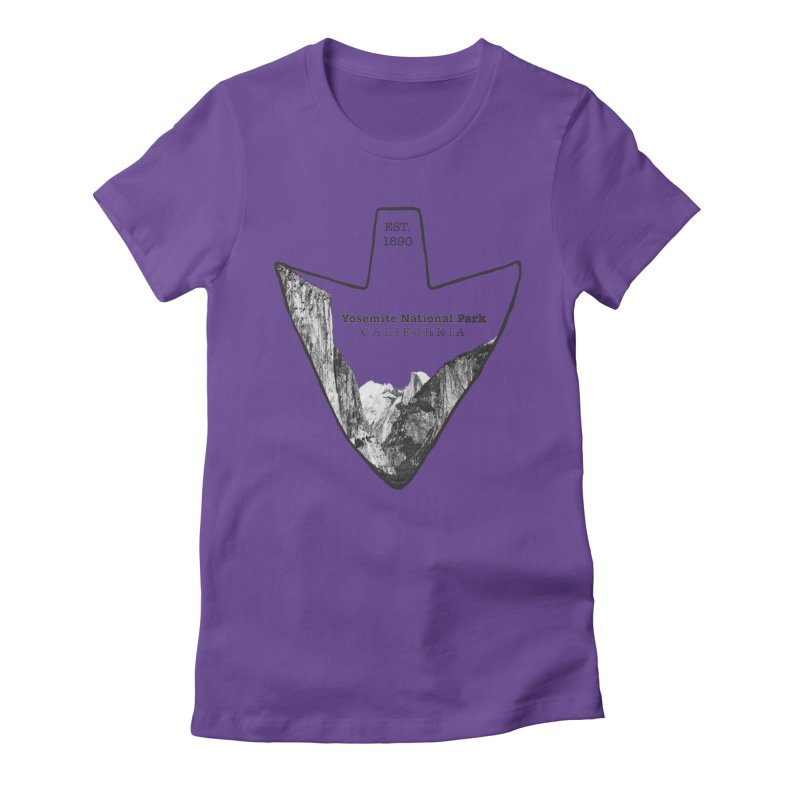Yosemite National Park Arrowhead Women's Fitted T-Shirt by Of The Wild by Kimberly J Tilley