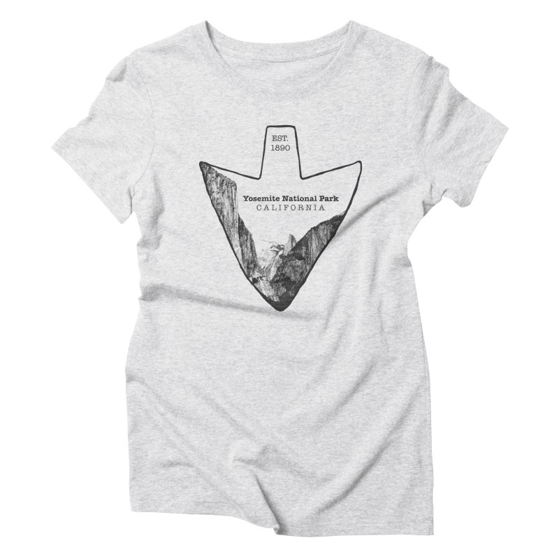 Yosemite National Park Arrowhead Women's Triblend T-Shirt by Of The Wild by Kimberly J Tilley