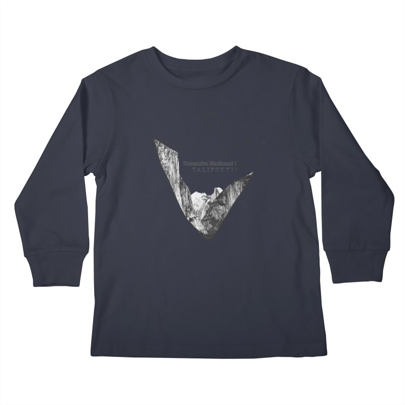 Yosemite National Park Arrowhead Kids Longsleeve T-Shirt by Of The Wild by Kimberly J Tilley