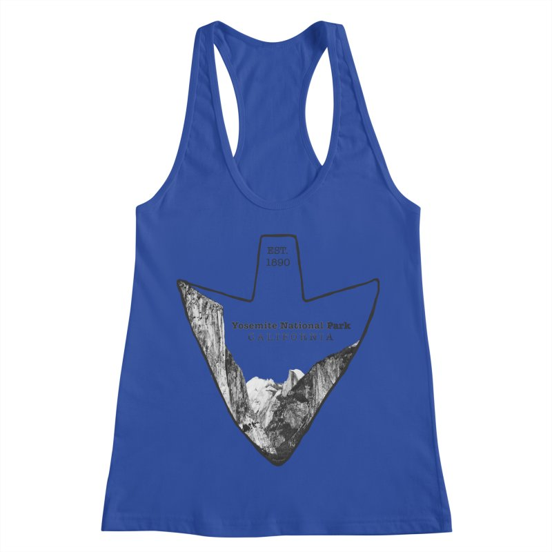 Yosemite National Park Arrowhead Women's Racerback Tank by Of The Wild by Kimberly J Tilley