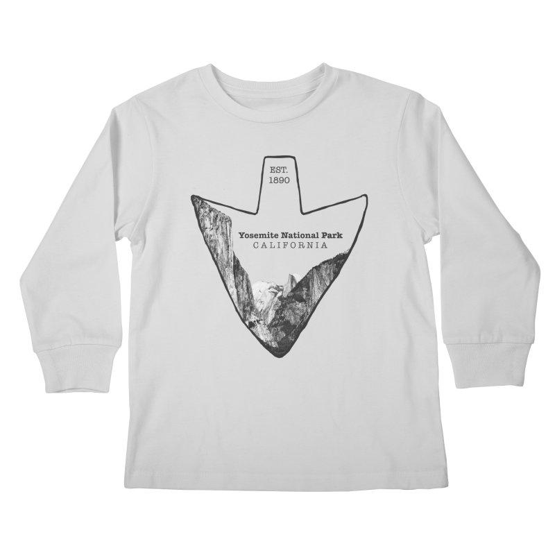Yosemite National Park Arrowhead Kids Longsleeve T-Shirt by Of The Wild by Kimberly J Tilley
