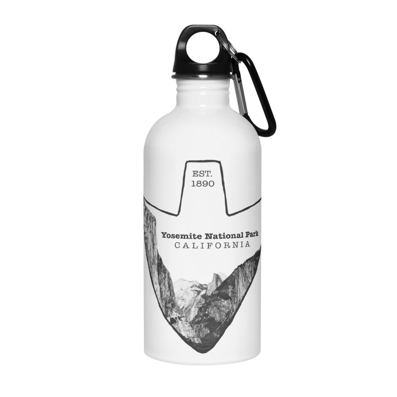 Yosemite National Park Arrowhead Accessories Water Bottle by Of The Wild by Kimberly J Tilley