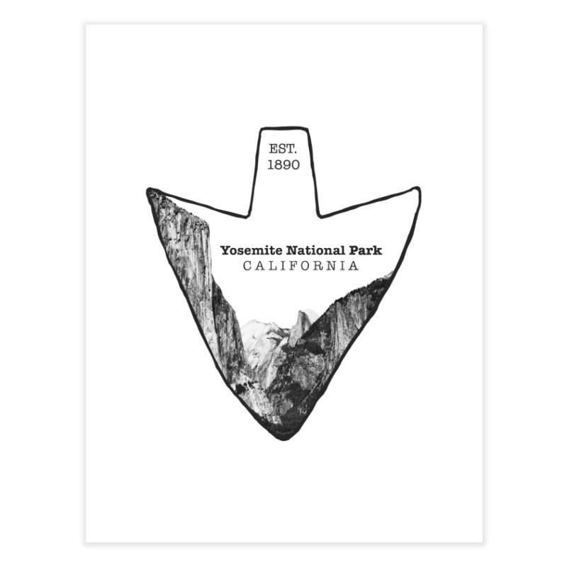 Yosemite National Park Arrowhead Home Fine Art Print by Of The Wild by Kimberly J Tilley