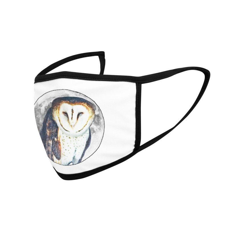 Tyto alba Accessories Face Mask by Of The Wild by Kimberly J Tilley