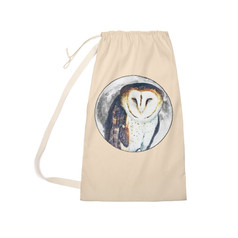 Tyto alba Accessories Laundry Bag Bag by Of The Wild by Kimberly J Tilley