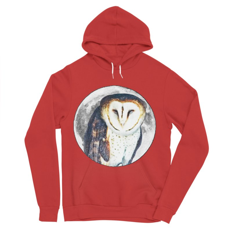 Tyto alba Men's Pullover Hoody by Of The Wild by Kimberly J Tilley