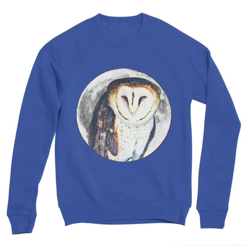Tyto alba Men's Sweatshirt by Of The Wild by Kimberly J Tilley