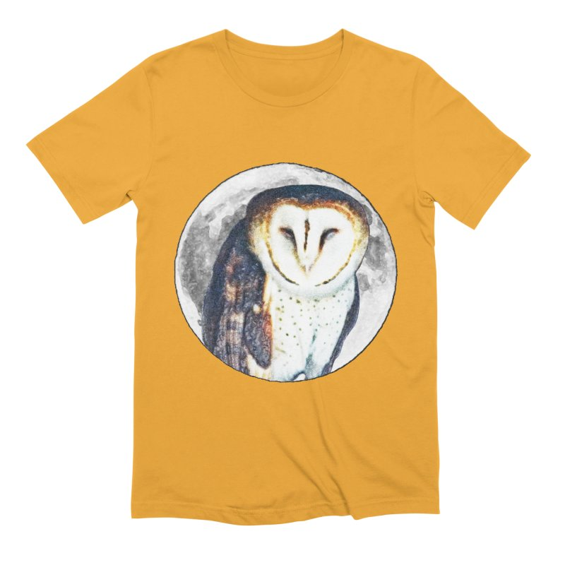 Tyto alba Men's T-Shirt by Of The Wild by Kimberly J Tilley