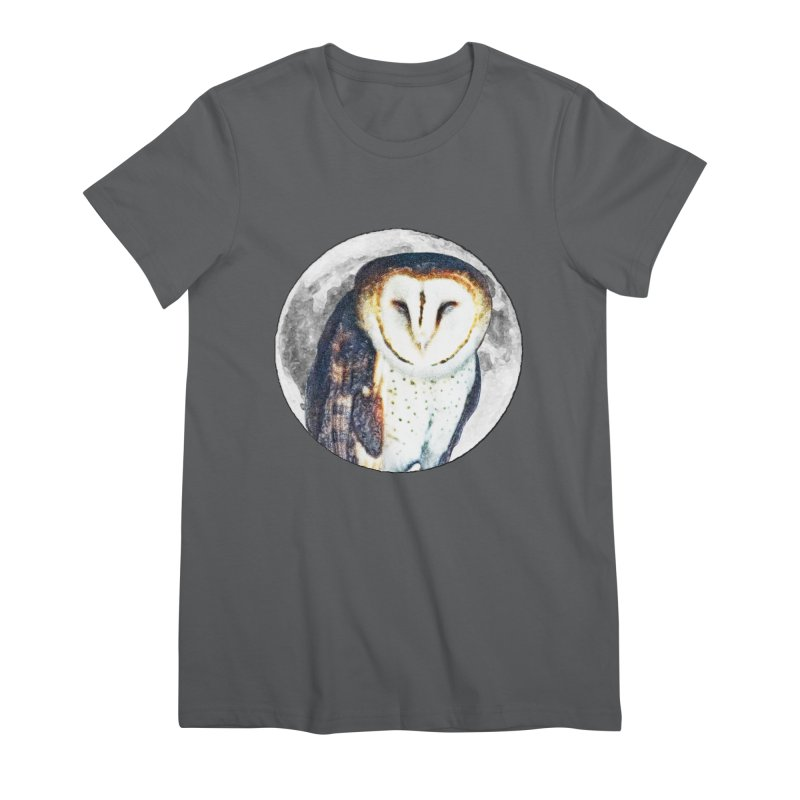 Tyto alba Women's Premium T-Shirt by Of The Wild by Kimberly J Tilley