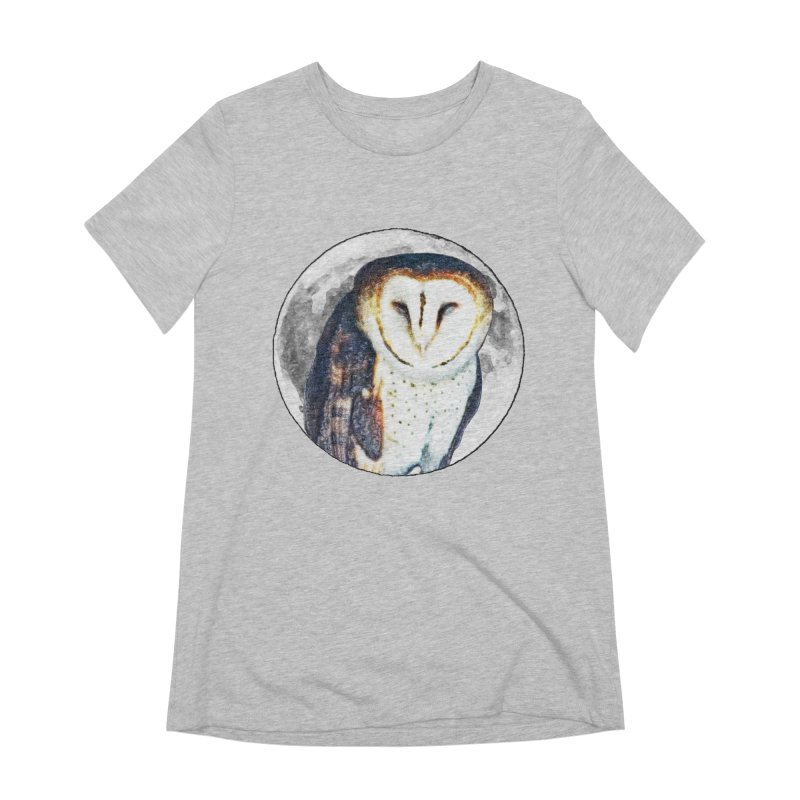 Tyto alba Women's Extra Soft T-Shirt by Of The Wild by Kimberly J Tilley