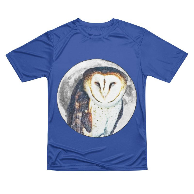 Tyto alba Men's Performance T-Shirt by Of The Wild by Kimberly J Tilley
