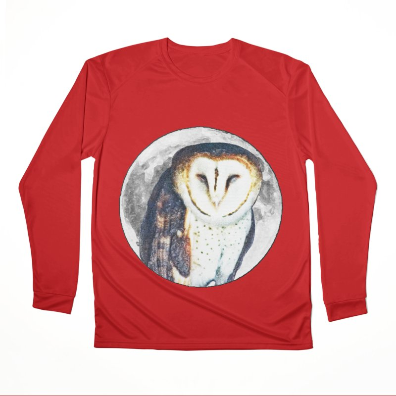 Tyto alba Men's Performance Longsleeve T-Shirt by Of The Wild by Kimberly J Tilley