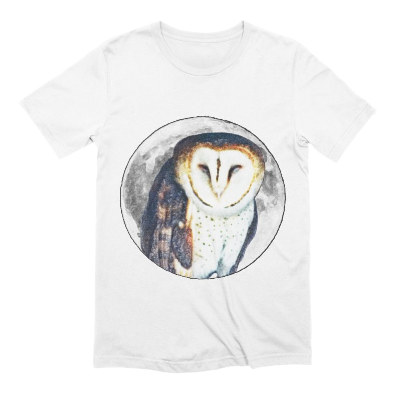 Tyto alba Men's Extra Soft T-Shirt by Of The Wild by Kimberly J Tilley