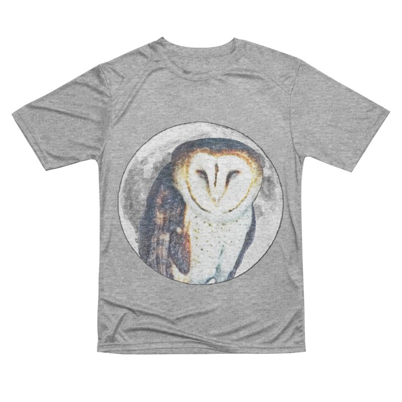 Tyto alba Women's Performance Unisex T-Shirt by Of The Wild by Kimberly J Tilley