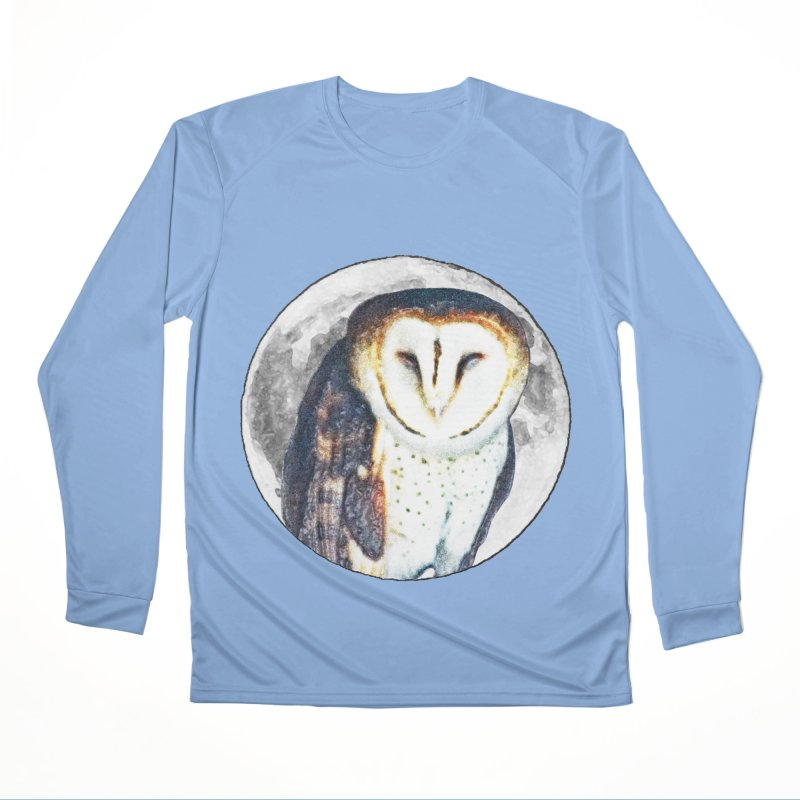 Tyto alba Women's Longsleeve T-Shirt by Of The Wild by Kimberly J Tilley