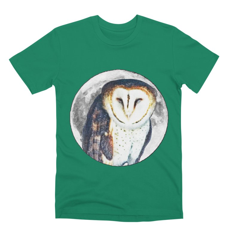 Tyto alba Men's Premium T-Shirt by Of The Wild by Kimberly J Tilley